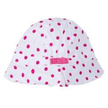 Absorba Girls sun hat with a pretty pink bow