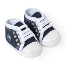 Absorba Boys navy blue and white shoes