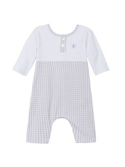 Baby boys long romper suit