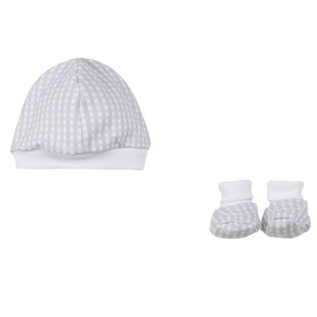 Absorba Babies Adorable Booties and Hat Set