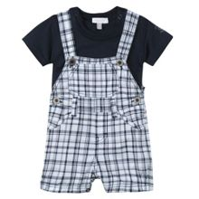 Absorba Boys ensemble with dungaree and T-shirt