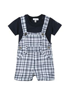 Boys ensemble with dungaree and T-shirt