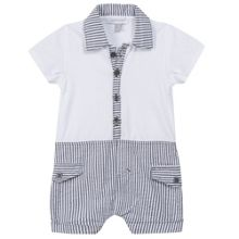 Absorba Boys short romper with polo collar