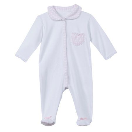 Absorba Baby girls 100% organic cotton sleepsuit