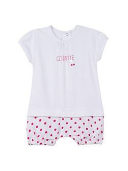 Girls romper suit with short legs