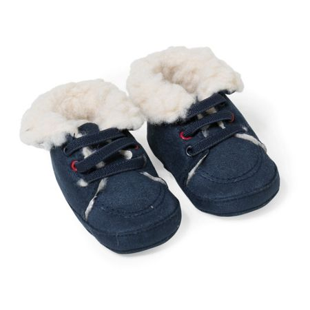 Absorba Baby Boys Faux-Fur Lined Slippers