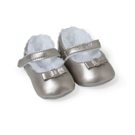 Absorba Baby Girls Metallic Booties