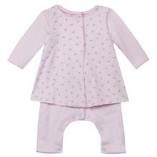 Absorba Baby Girls Bow-Print Cotton Outfit
