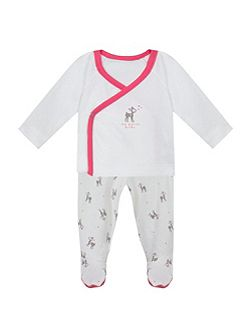 Baby Animal-Print Cotton-Jersey Outfit