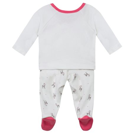 Absorba Baby Animal-Print Cotton-Jersey Outfit