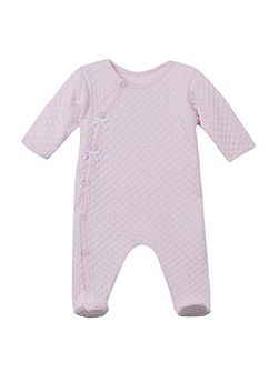 Baby Girls Quilted Sleepsuit