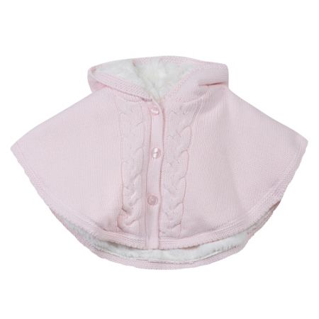 Absorba Baby Girls Hooded Cable-Knit Cape