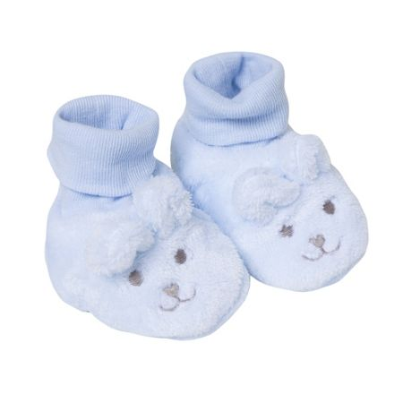 Absorba Baby Faux-Fur Animal Slippers