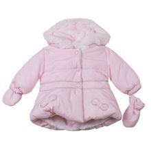Absorba Baby Girls Faux-Fur Lined Parka