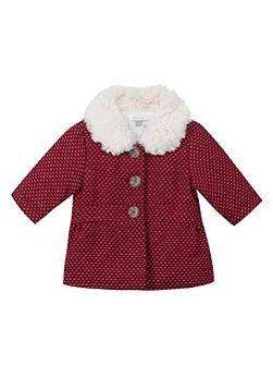 Baby Girls Faux Fur-Collar Coat