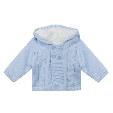 Absorba Baby Boys Faux Fur-Lined Knitted Coat