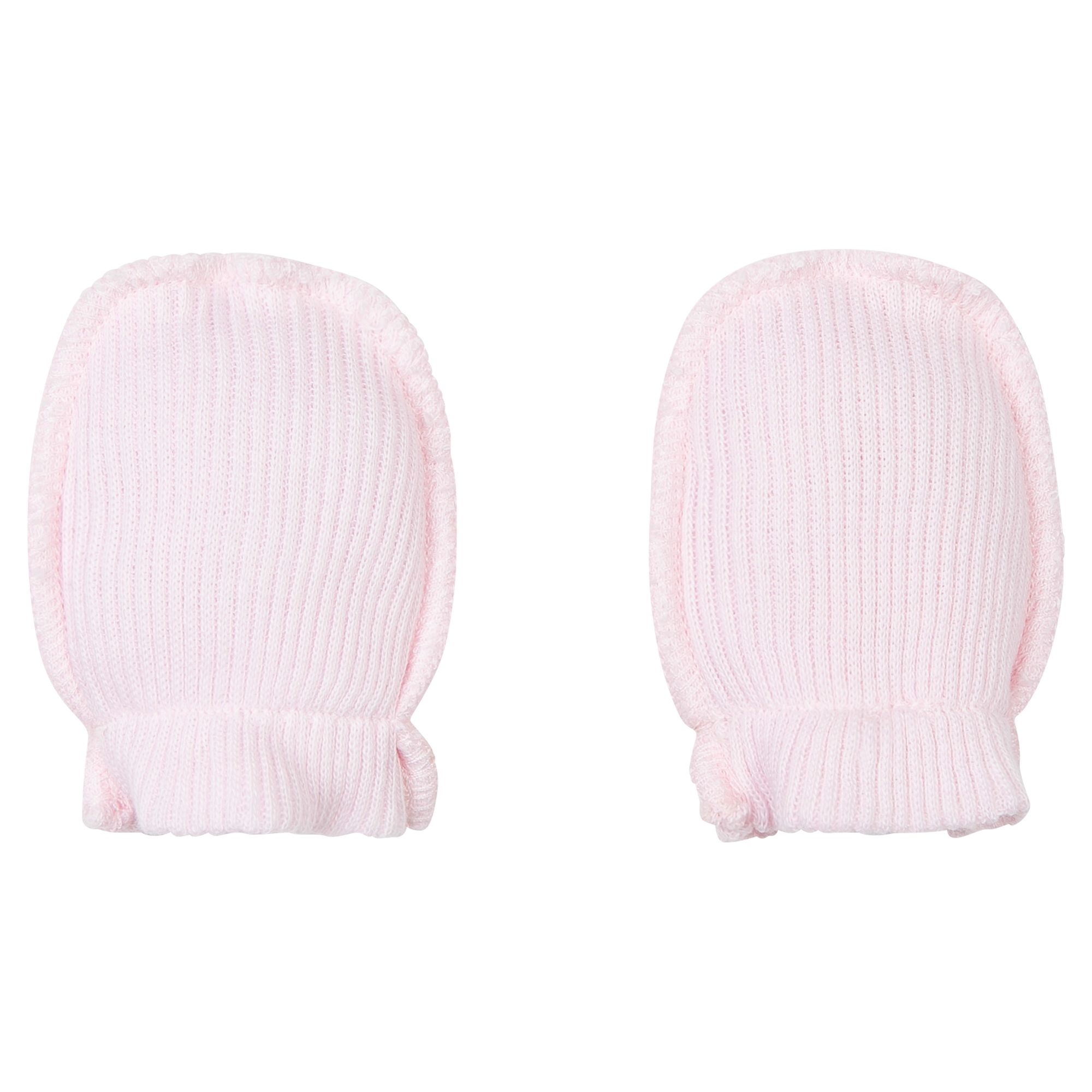 Absorba Absorba Baby Ribbed Cotton Mittens, Peach