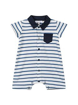 Baby Boys Striped Cotton Playsuit