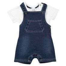 Absorba Baby Boys Top and Denim Dungarees Set