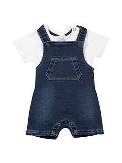 Baby Boys Top and Denim Dungarees Set