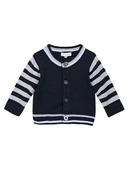 Baby Boys Embroidered Cotton Cardigan