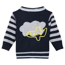 Absorba Baby Boys Embroidered Cotton Cardigan