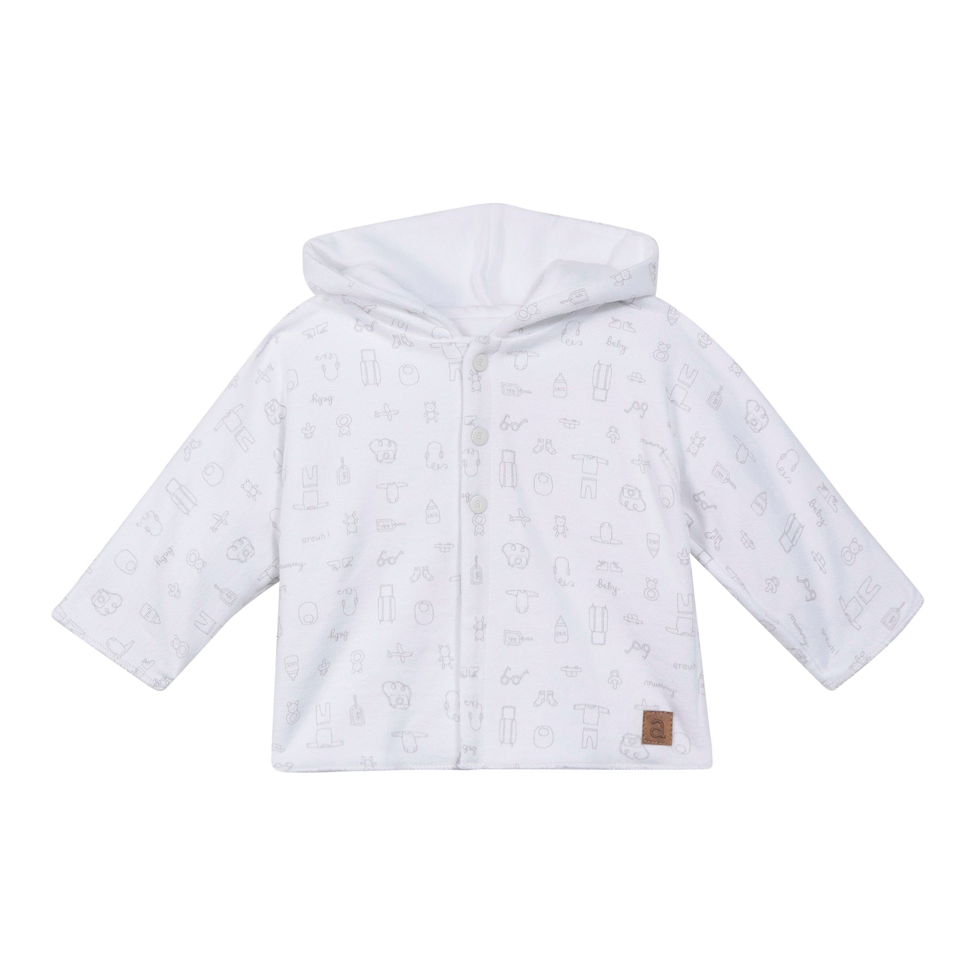 Absorba Absorba Baby Natural Cotton Coat, White