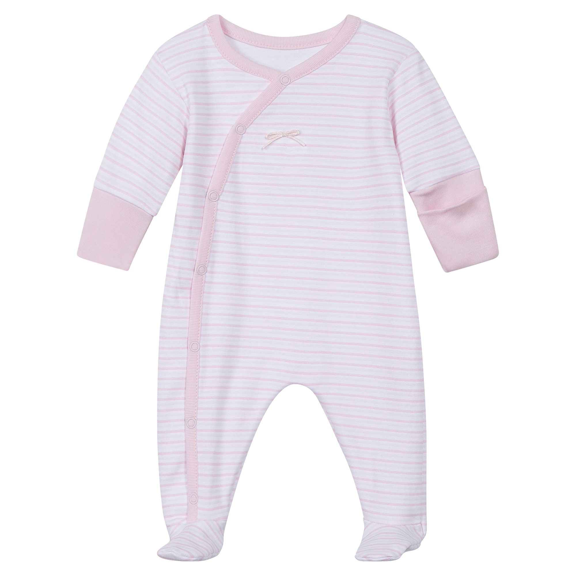Absorba Absorba Baby Natural Cotton Sleepsuit, Pink