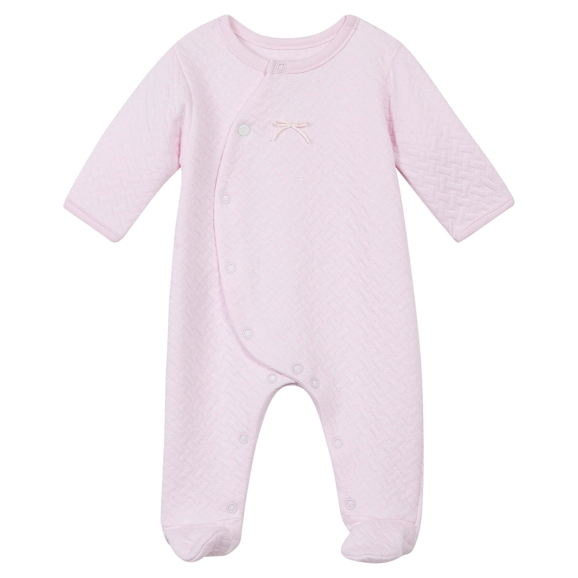 Absorba Absorba Baby Quilted Sleepsuit, Pink
