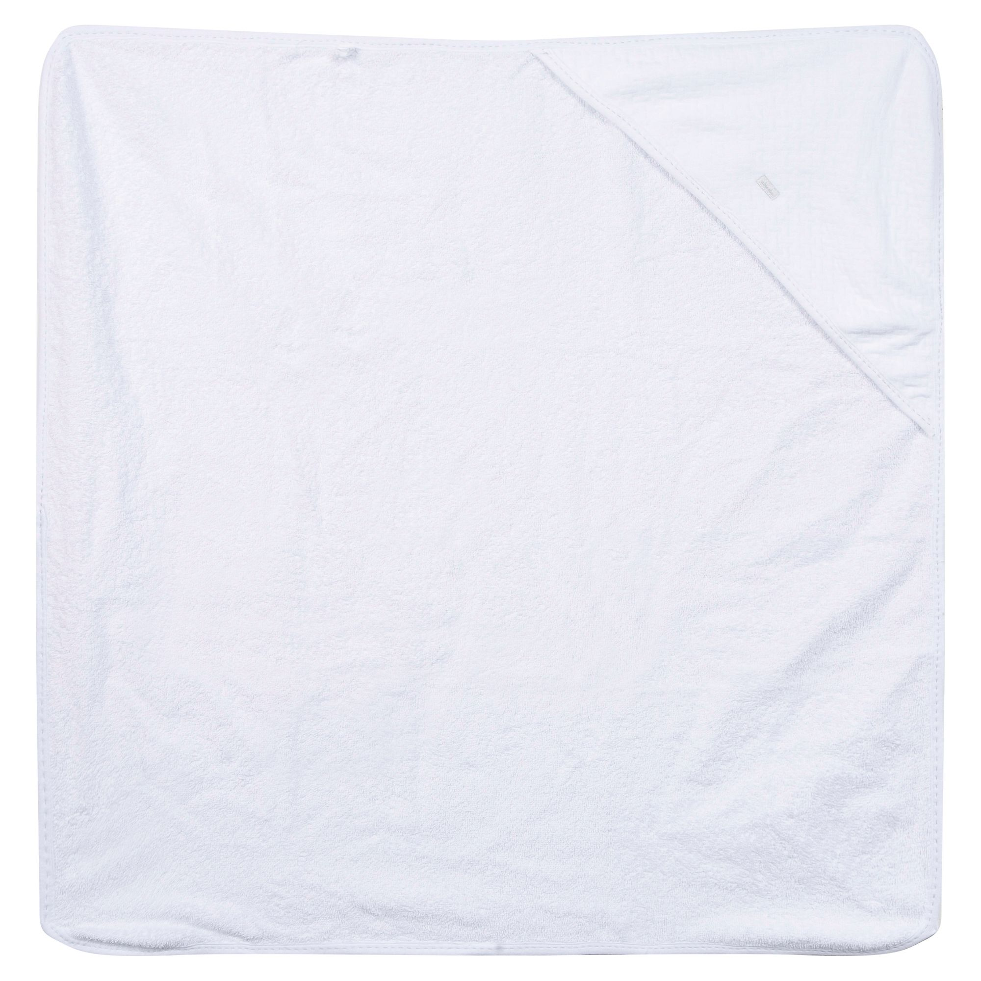 Absorba Baby Cotton Hooded Bath Towel White