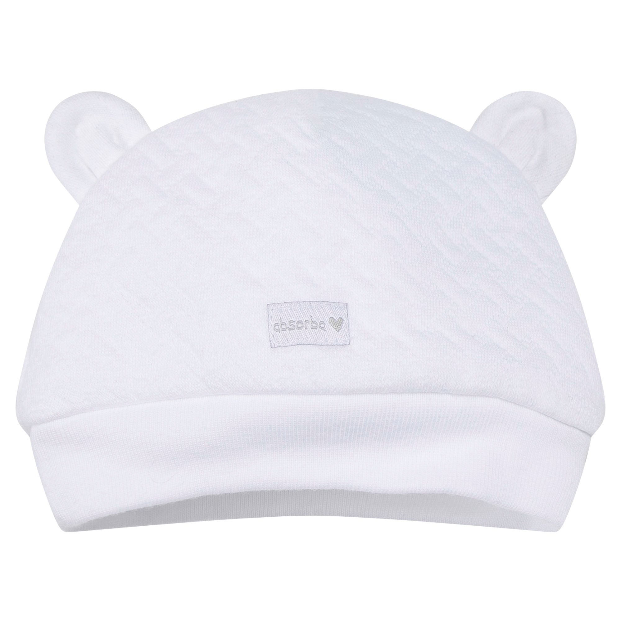 Absorba Absorba Newborn Quilted Cotton Hat, White