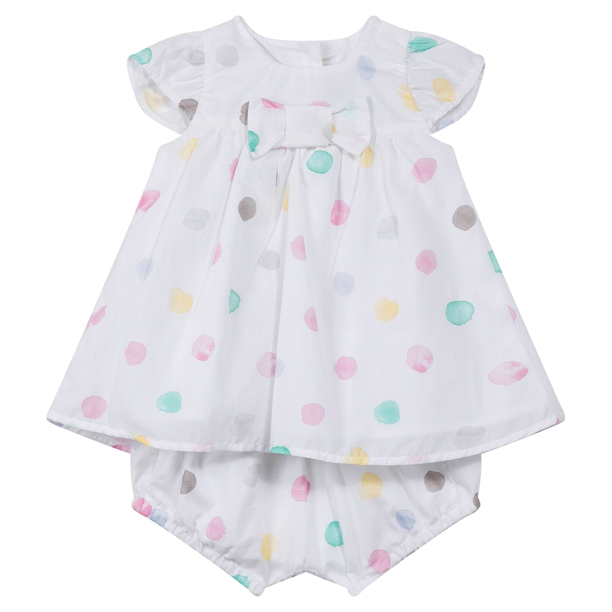 Absorba Absorba Baby Girls Polka Dot Dress with Bloomers, Pink