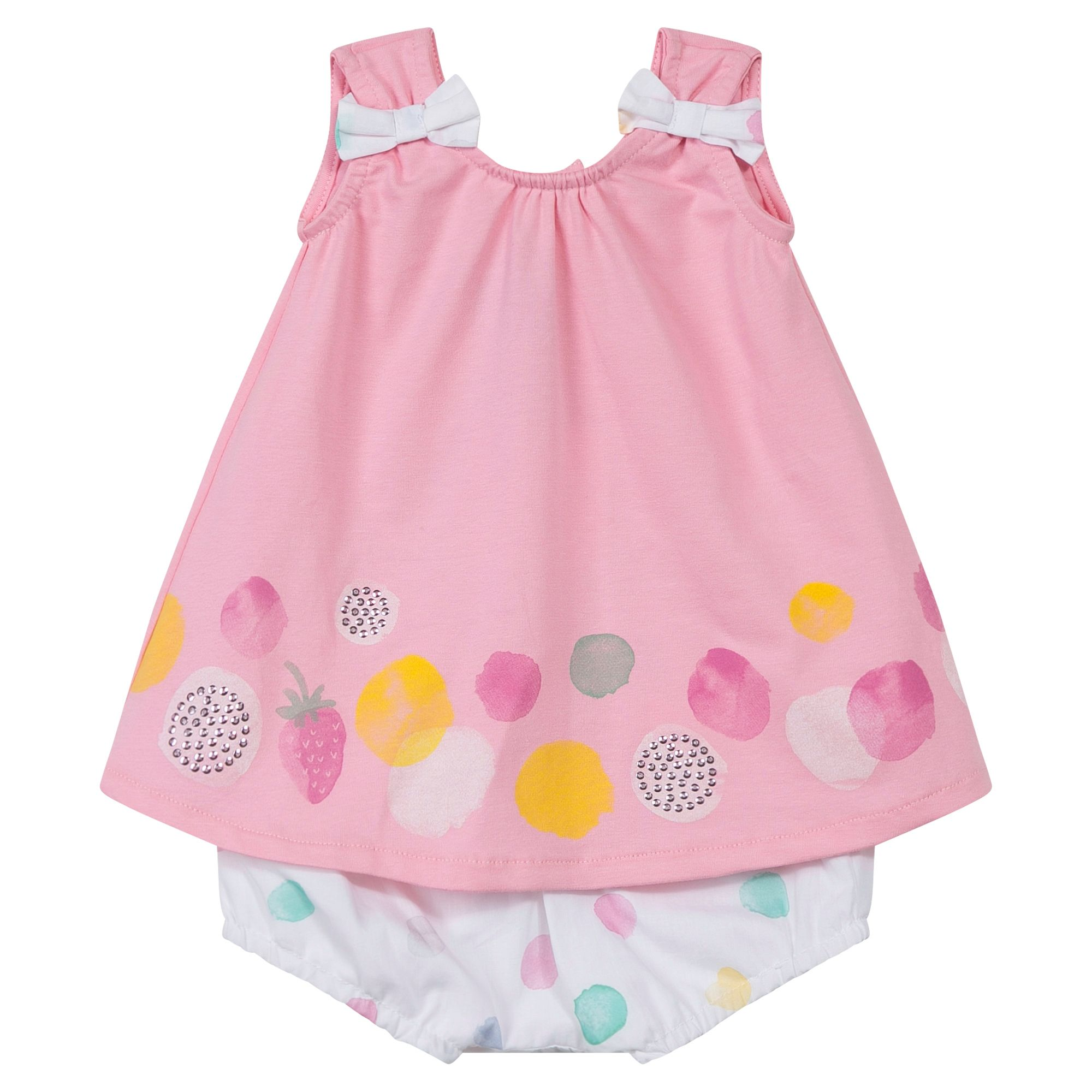 Absorba Absorba Baby Girls Dress with Bloomers, Pink
