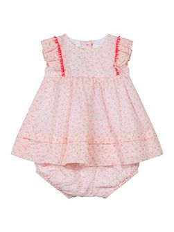 Baby Girls Patterned Dress with Bloomers