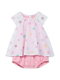 Baby Girls Polka Dot Bodysuit Dress