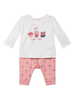 Baby Girls Cotton Top and Bottoms Set
