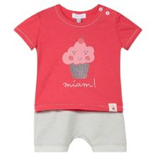Absorba Baby Girls T-shirt and Shorts Set