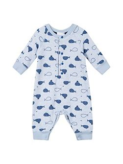 Baby Boys Whale-Print Playsuit