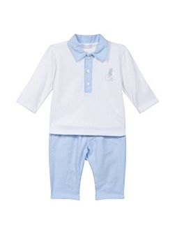 Baby Boys Cotton Top and Bottoms
