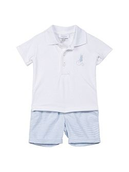 Baby Boys Polo Shirt and Shorts Set