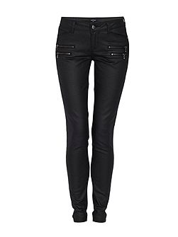 Slim Fit Jeans with Zipped Detailing