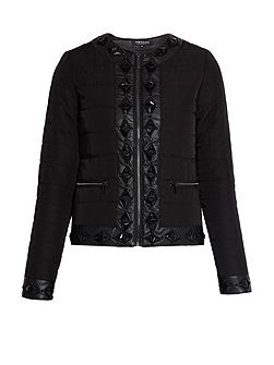 Quilted jacket with jewelled detail