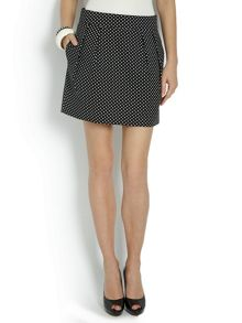 Morgan Tulip-style mini-skirt with spots