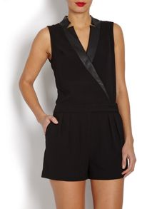Short Playsuit with Crossover Front