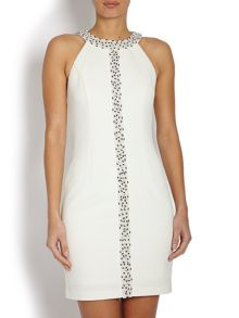 Mini dress with sequined embellishment