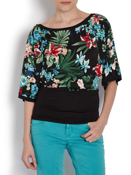 Morgan Floral top with plain bottom layer