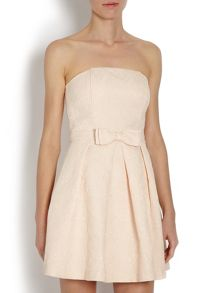 Morgan Bandeau party dress with bow on waist