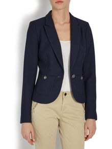 Navy blue blazer with silver buttons