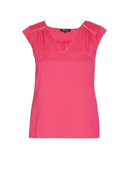 Morgan Loose-fit top with zipped detail