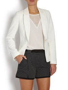 Fitted blazer with gold buttons on sleeves